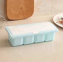 JINAN 4 Cells/1Set Plastic Seasoning Box Condiment