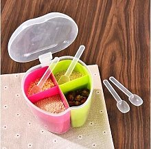 JINAN Plastic Divided Spice Box Kitchen Seasoning