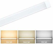 jincome 4FT LED Batten Light, 3 Color Mode LED