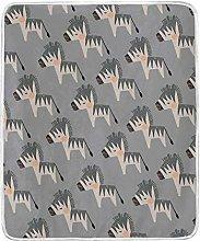 JinDoDo Blanket Abstract Animal Zebra Throw