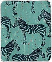 JinDoDo Blanket African Animal Zebra Pattern Throw