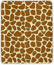 JinDoDo Blanket Animal Giraffe Skin Print Throw