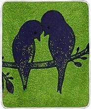 JinDoDo Blanket Bird Branch Animal Throw Blanket
