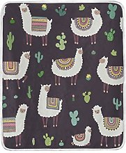 JinDoDo Blanket Cartoon Animal Camel Cactus Throw