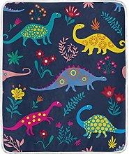 JinDoDo Blanket Cartoon Animal Dinosaur Flower