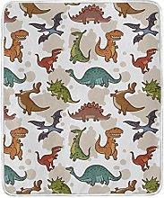 JinDoDo Blanket Cartoon Animal Dinosaur Throw