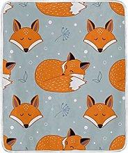 JinDoDo Blanket Cartoon Animal Fox Sleep Throw