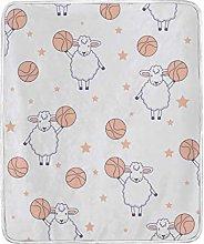 JinDoDo Blanket Cartoon Animal Lamb Basketball
