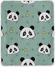 JinDoDo Blanket Chinese Animal Panda Star Throw