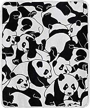 JinDoDo Blanket Cute Animal Panda Pattern Throw