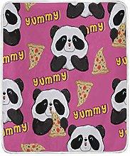 JinDoDo Blanket Cute Animal Panda Pizza Throw