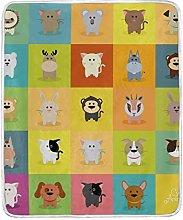 JinDoDo Blanket Cute Animal Throw Blanket Soft