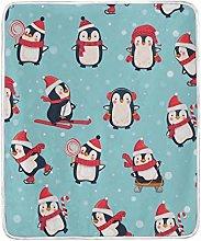 JinDoDo Blanket Lovely Animal Penguin Pattern
