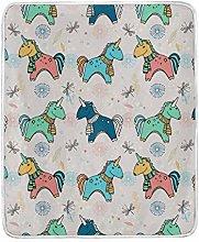 JinDoDo Blanket Lovely Animal Pony Dragonfly Throw
