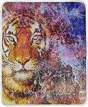 JinDoDo Blanket Tiger Animal Pattern Throw Blanket