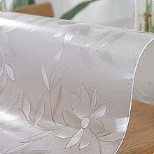 JING2002 PVC Plastic Tablecloth, Wipeable Strong