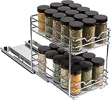 JINGLING Pull Out Spice Rack Organizer For