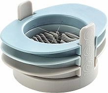 jingming 1 piece (blue) egg slicer, three in a