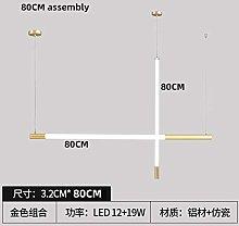 JINKEBIN Vintage LED Strip Lamp Gold Modern Simple