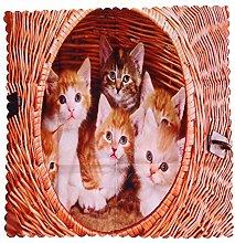 Jinliang Cloth Napkins Print Table Linen Pussycat