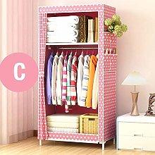 JINMENHUO Simple Wardrobe Student Dormitory Single