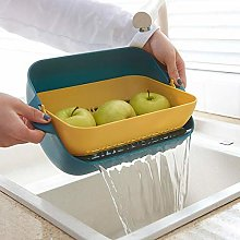 JINQIANSHANGMAO 2in1 Kitchen Colander/Filter Bowl