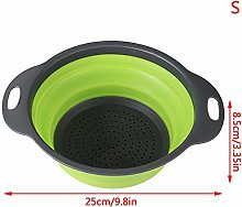 JINQIANSHANGMAO Silicone Colander Collapsible