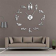 JINQIANSHANGMAO Wall Clocks,Sexy Pose Wall