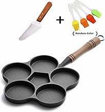 JINRU 5 Hole Cast Iron Omelette Frying Pan
