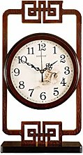 jinrun Mantel Clock New Chinese Retro Desk Clock