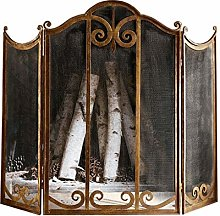 jinrun Spark Guard Large Gold Fireplace Screen 3