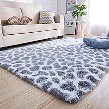 JINTIANSDS Luxury Fluffy Area Rug,Leopard Print
