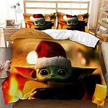 JinWensm Duvet cover double bed Baby Yoda