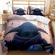 JinWensm Duvet cover double bed Baby Yoda