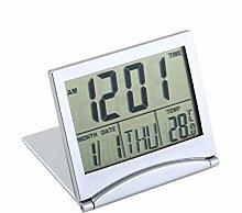 Jinxuny Desk Digital Clock Travel Radio Clock LCD