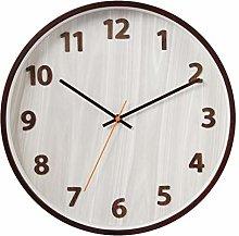 jinyi2016SHOP Wall Clock 35cm Round Wooden Wall