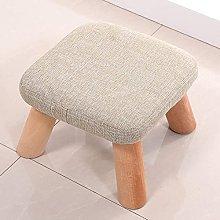 JINYUNDA Small Square Stool Fabric Sofa Stool