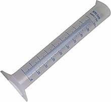 Jinzuke 500ml Plastic Measuring Cylinder Blue Line