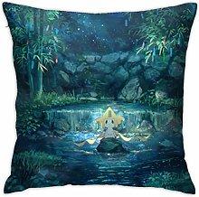 Jirachi Square Pillowcase Soft Plush Living Room