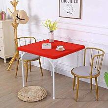 JISEN Cocktail Square Table Top Cover Spandex