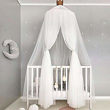JISHIYU Bed Canopy for Children,Round Lace Cotton