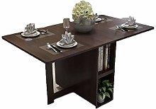 JISHIYU-Q Brown Dining Table Picnic Table Chair A