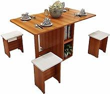 JISHIYU-Q Dining Table Light Brown 5-piece Set