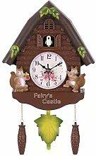 JISKGH Cute Bird Wall Clock Cuckoo Alarm Clock