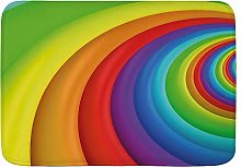 JISMUCI Bath Mats for Bathroom,Rainbow Colored