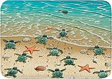 JISMUCI Bath Mats for Bathroom,Turtles on The