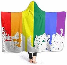 JISMUCI Hoodie Blanket Warm Flannel,Racoon With