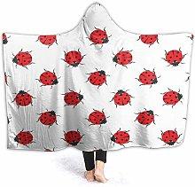 JISMUCI Hoodie Blanket Warm Flannel,Red Animal Of