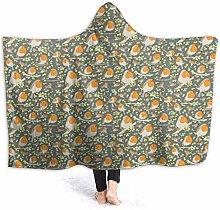 JISMUCI Hoodie Blanket Warm Flannel,Robins