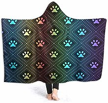 JISMUCI Hoodie Blanket Warm Flannel,Seamless